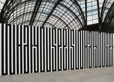 In love with the work of Parisian artist Tania Mouraud – Typography Murals   #dd