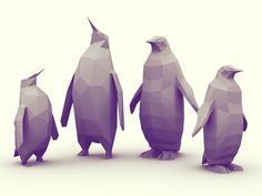 Penguins #illustration #low #penguins #poly