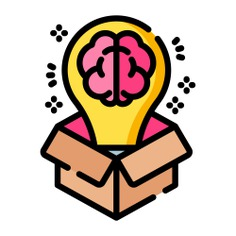 See more icon inspiration related to idea, brain, think, box, brainstorm, business and finance, art and design, seo and web, miscellaneous, studying, brainstorming, creativity, thinking, ideas, strategy, learning, education, interface and business on Flaticon.