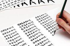 Organic handmade identity font