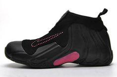 Nike Air Flightposite One Black and Pink Women Sneakers
