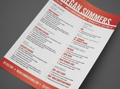 Free Swiss Style Resume Template in PSD File Format