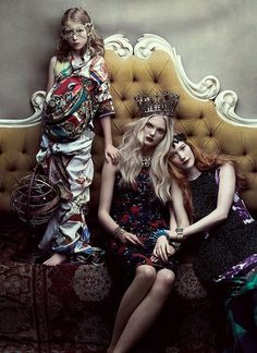 "Artistic fashion story – ""Your Majesty"" in Flare Magazine"