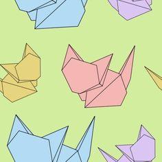 Origami Cat Pattern