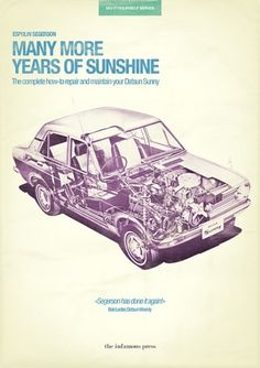 All sizes | Many More Years of Sunshine | Flickr - Photo Sharing! #car #vitange #poster #typography