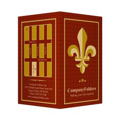 Fleur-de-lis Motel Key Card Folder Template #maroon #red #design #map #template #god #folder
