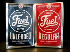 Fuel #branding #fuel #packaging #thunder #coffee #type