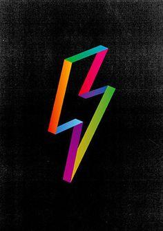 Yay Hooray | Make Something Cool Everyday #illustration #rainbow #bolt