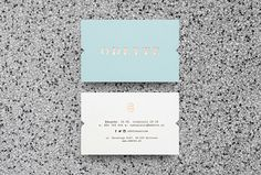 Odette by Dmowski & Co. #print #graphic design #business cards