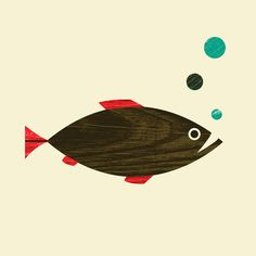 ForestFish.jpg #wood #illustration #animal #texture