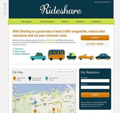 Carly Lane Design Portfolio | Rideshare #website #illustration #identity #branding