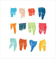 Tamsyn Mystkowski Illustration #illustration #colour #drawing #bums