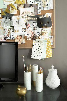 5Sarah #desk #polka dots