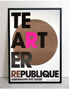 Republique Theatre S1 | Scandinavian DesignLab #design #poster #typography