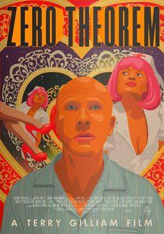 Poster for Zero Theorem by Bob Studio #theorem #zero #illustration #gilliam #terry #poster #film