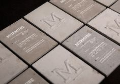 murmure: concrete business card