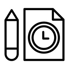 See more icon inspiration related to clock, pencil, time and date, files and folders, watch, file, tool, time and square on Flaticon.