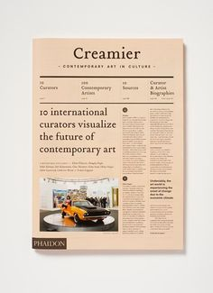 Creamier on Behance #creamier #design #newspaper #editorial