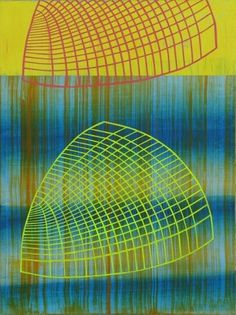 Red+and+Yellow+Curved+Nets+copy.jpg (image) #abstract #acrylic #geometry #bina #dan #art #painting #canvas