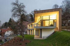 Simple Geometric House with Two Profiles: House T in Salzburg, Austria