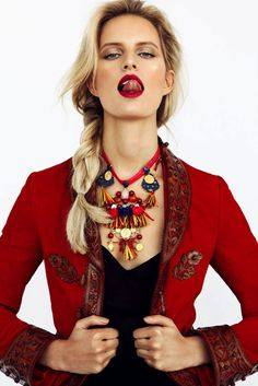 Karolina Kurkova by Branislav Simoncik for Elle Czech #model #girl #campaign #photography #portrait #fashion #editorial #beauty