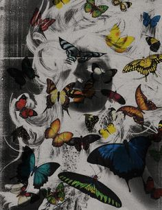 The butterfly effect, POGO | art & design boutique #pogo #woman #butterfly #photography #collage