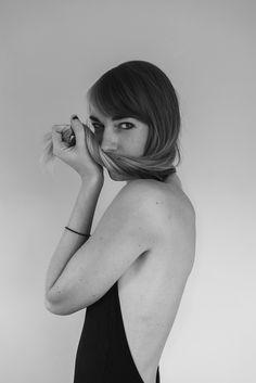 Kayla Snell Photography // http://cargocollective.com/KSnellPhoto #model #blackwhite #woman #girl #classic #pretty #hair #photography #portrait