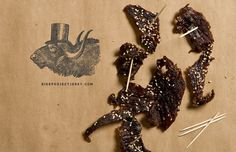 SIDEPROJECTJERKY.COM #stamp #illustration #beef #jerky