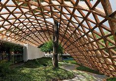 CJWHO ™ (Spinal Injury Rehabilitation Centre, Asunción,...) #construction #center #spinal #incury #wood #rehabilitation #architecture #kids #children