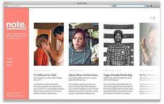 note. - Ryan Stannage #interactive #design #screen #logo #web #typography