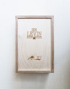 IEN LEVIN box for business cards #vintage #wood #tattoo #brand #box #kiev #onga #odessa #ien leviv