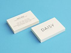 Daisy London #stationary #business #card #brand #logo