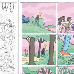 Color ruff for a project I am working on at the moment. #color #comic #graphicnovel #illustration #sketch #ruff #wip #atthelake