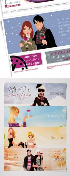 Ruta del Vino Somontano #diseo #de #ilustraci #grafic #estudio #disseny #grafico #ilustracion