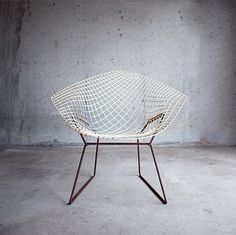 & Gatherer #bertoia #white #rusty #chair #harry #rust #grid #furniture #net