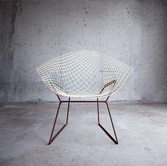 & Gatherer #bertoia #white #rusty #chair #harry #rust #grid #furniture #net