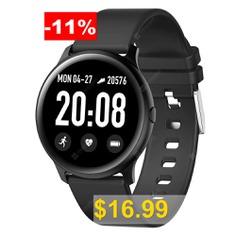 Bilikay #KW19 #Smart #Bracelet #1.3 #inch #Bluetooth #4.0 #Smartwatch #- #BLACK