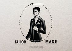 tumblr_m19qupVU2R1ro34sdo4_1280.jpg (800×565) #tailor #logo #retro #vintage