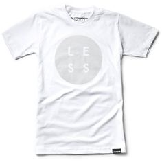 LESS (White) #typography #minimal #ugmonk #tshirt #apparel #clothing #less