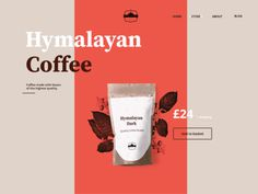 coffee, website, design, simple, web