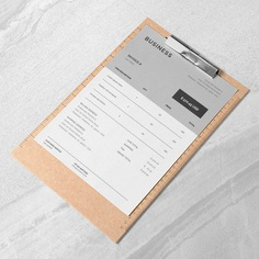 Business Invoice Template Invoice Template Gray Invoice | Etsy