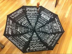 MFA Designer As Author - School of Visual Arts #umbrella #mary #sadder #leen #handlettered #poppins