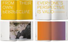 Extro-Introspection book #graphic design #typography #book #book design #color #gradient #french paper #elena miska #poptone
