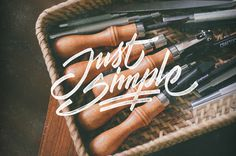 don't think too much justsimple #lettering #hand #typography