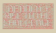 Typographic Murals - Velcro Suit - The Graphic Design and Illustration of Adam Hill #type #maze