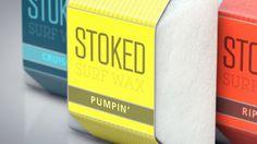 Stoked Surf Wax by Christopher Vinca #branding #packaging #cinema 4d