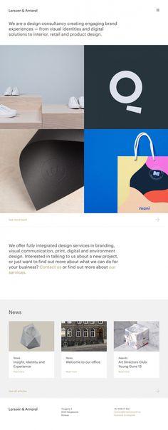 Larssen & Amaral norway branding design webdesign beautiful beauty best minimal simple clean cool trend award site of the day portfolio norw