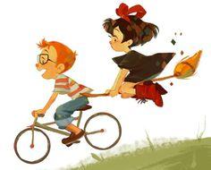 Kiki\'s Delivery Service   Fan art by Kaiserisms | Illustration