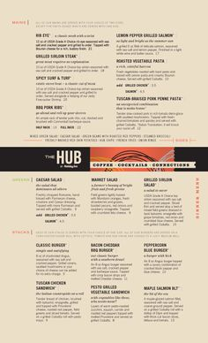 Art of the Menu: The Hub