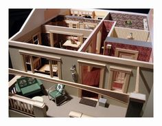 Bungalow interior Front view | Flickr - Photo Sharing! #interior #miniature #diorama #art
